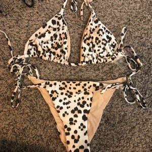 Beach Bunny Pink Leopard Bikini